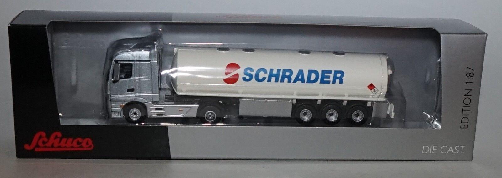 Schuco 2207000 Mercedes-Benz Actros Unitas 2000  Schrader Schrader Schrader  en escala 1 87 014c2c