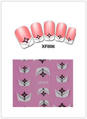 3D Lace Transfer Nail Art Stickers Manicure Nail Polish Decals Tips Decorations