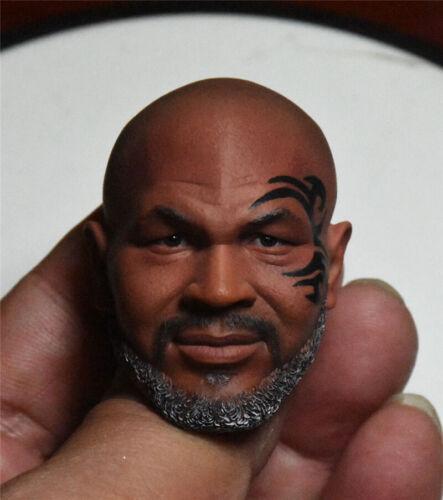 "1//6 Scale Mike Tyson Head Sculpt Model with Beard for 12/"" Body Figure"