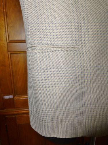 42 Italia pulsante Dress Sz Check singolo Armani Emporio Blazer Jacket Lino Graph I 5xPfcq