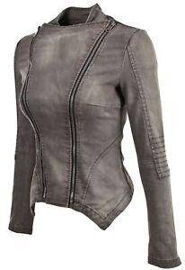 Women-039-s-Juniors-Long-Sleeve-Denim-Blazer-Fitted-Jacket