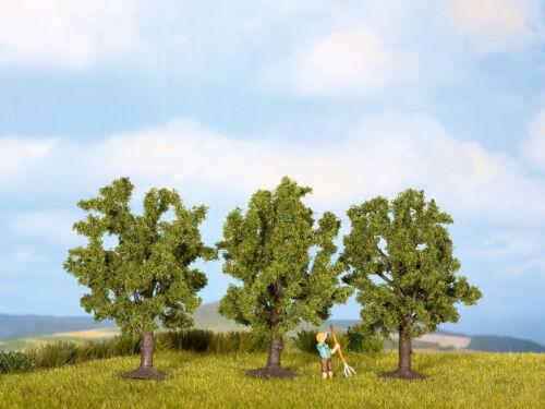 hauteur 8 cm #neu dans neuf dans sa boîte # 3 unités Encore 25110 Piste h0 TT arbres fruitiers vert
