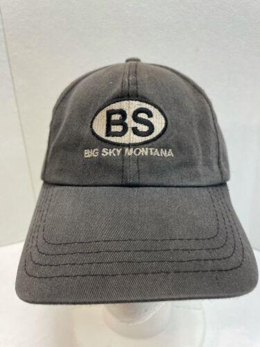Big Sky Montana StrapBack Hat Cap Vacation Embroid