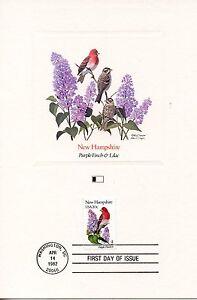 Utile First Day Of Issue / Fdc / Oiseaux & Fleurs Des 50 Etats Des Usa / New Hampshire Pratique Pour Cuire