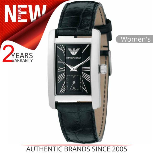 bc1b1d0e95da8e Emporio Armani Classic Women's Watch│Chronograph Dial│Black Leather Strap │AR0144