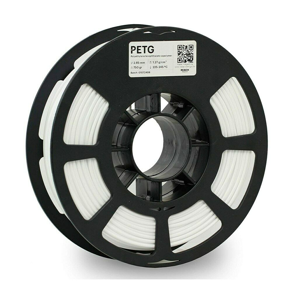 Kodak 3D Printing Filament PETG White 2.85 mm For Kodak Portrait 3D Printer