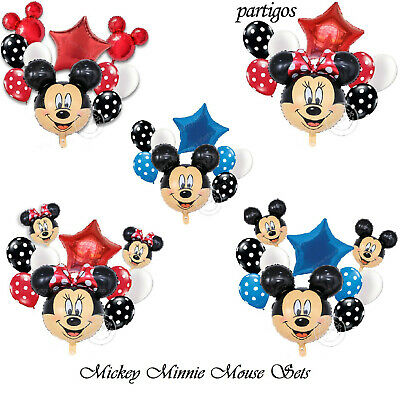 Mickey//Minnie Mouse FOIL Parti Ballons Pour Baby Showers//Anniversaire Enfants Décoration