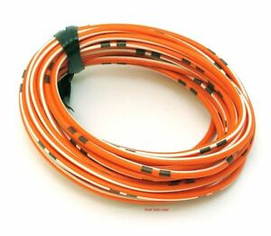 OEM Colored Electrical Wire 18 Gauge - 13\' Roll - Orange / White ...