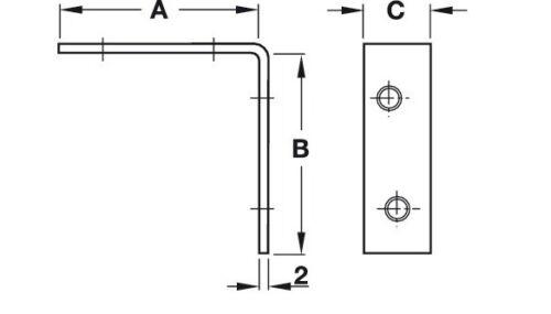 RIGHT ANGLE METAL L BRACKET 50×16mm CORNER BRACE FIXING SUPPORT REPAIR BRACKET