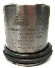 "ANDERSON INSTRUMENT, PRESSURE TRANSMITTER, HB1005005600, 0305067, 0-60.0"" WC"