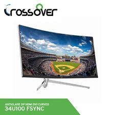 Crossover 34U100 Game Monitor 3440x1440 QHD Curved R1800 21:9 AntiGlare DP HDMI