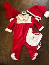 NWT Janie and Jack baby unisex HOLIDAY red sleeper 2//3-piece hat SET 0 3 6 9