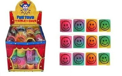 36x Mini Rainbow Smiley Face Spring Slinky Party Loot Bags Pinata UK SELLER