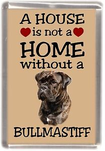 Bullmastiff-Dog-Fridge-Magnet-034-A-HOUSE-IS-NOT-A-HOME-034-by-Starprint