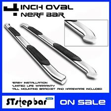 """2015-2017  CHEVY COLORADO/GMC CANYON CREW CAB 4"""" OVAL BENT NERF BAR SIDE STEP"""