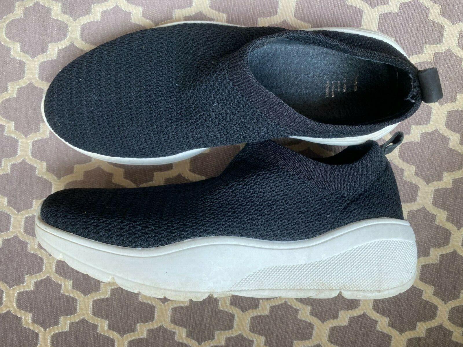 J. Jill Slip-On Black Confortable Athlétique Baskets Chaussures De Marche Taille 6.5 M