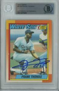 1990-Topps-414b-Frank-Thomas-RC-Rookie-BAS-Certified-Authentic-Auto