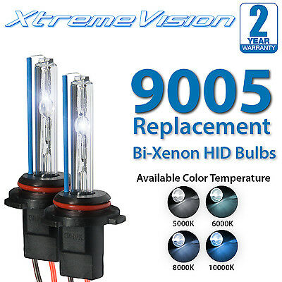 Light Blue HID-Warehouse HID Xenon Replacement Bulbs 1 Pair 9005 6000K - 2 Year Warranty