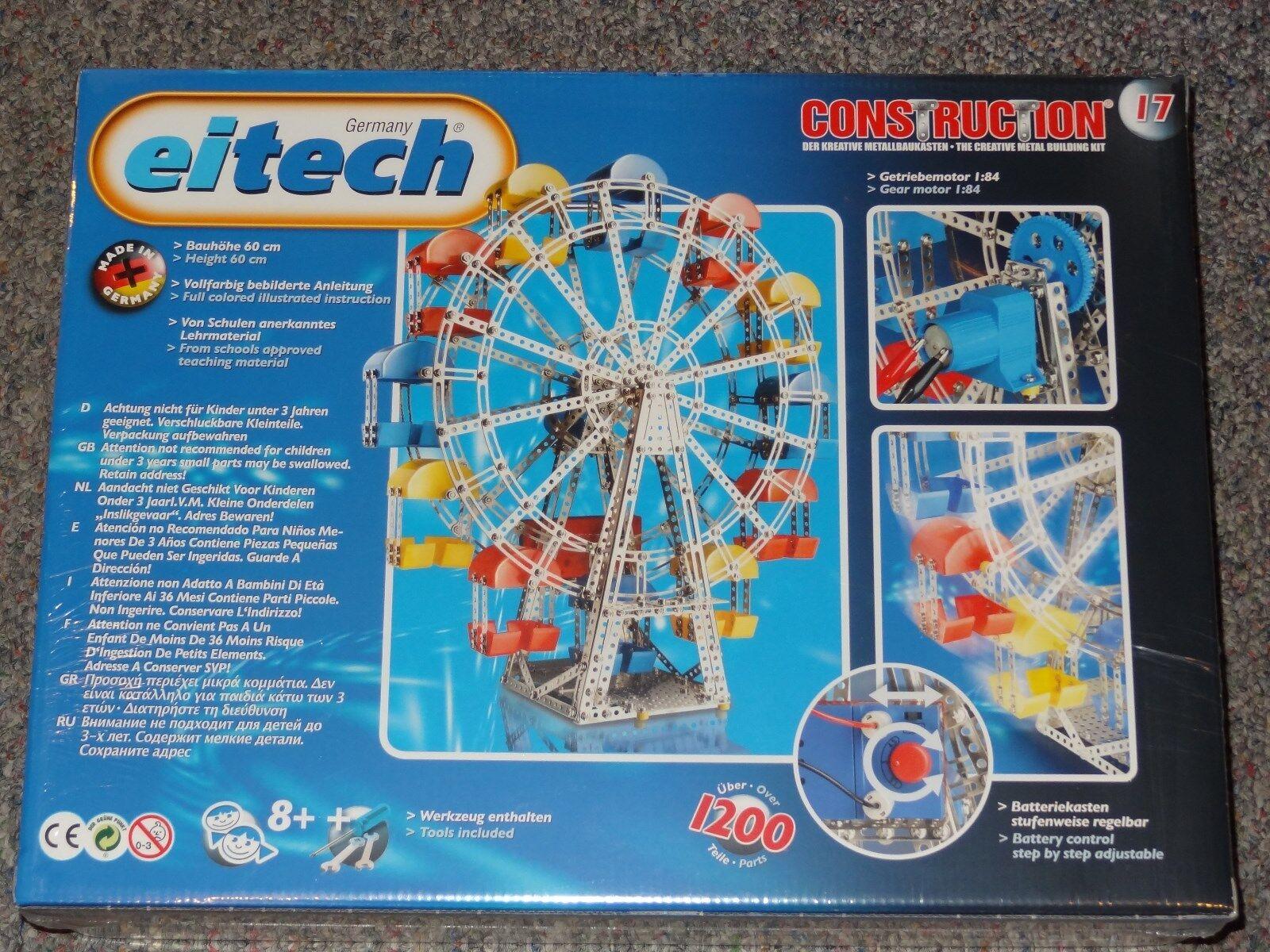 Ferris Wheel Eitech Eitech Eitech C17 Metal Construction Building Toy Steel Model a78651