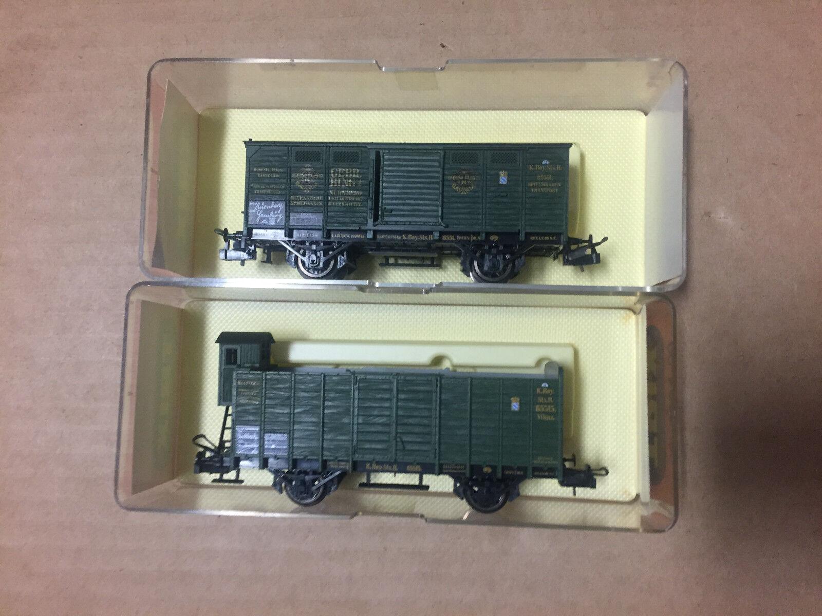 Trix 3604 3611 2 x diversi carri merci delle K. Bay. STS. B, Nuovo + OVP