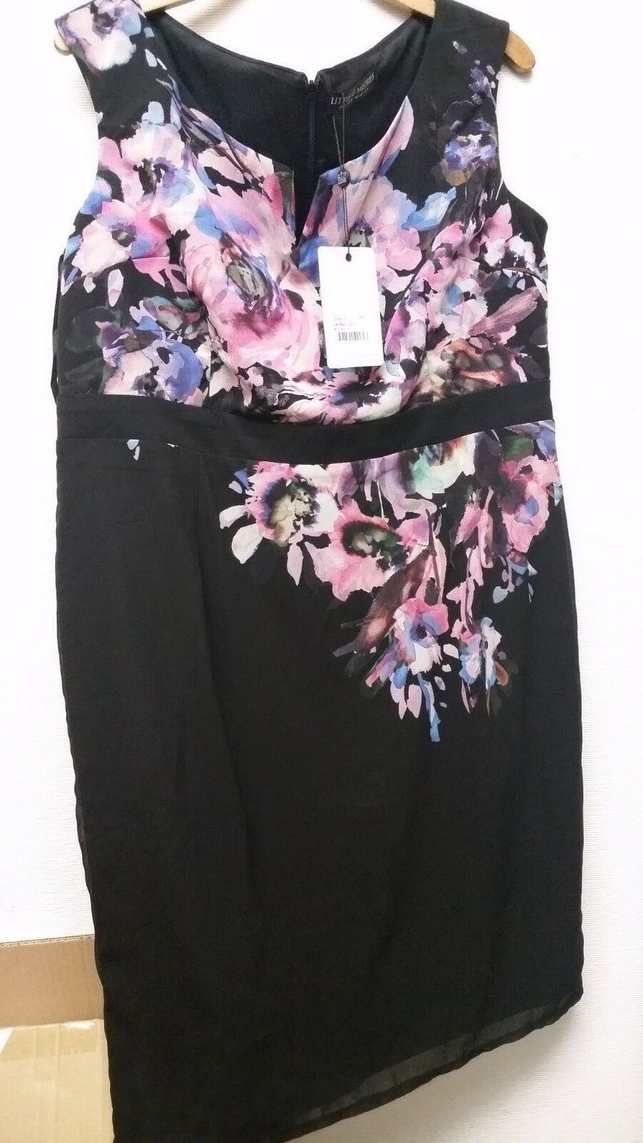 Little Mistress Ladies Floral Bodycon  Dress Sleeveless Size 20  BNWT A611-7
