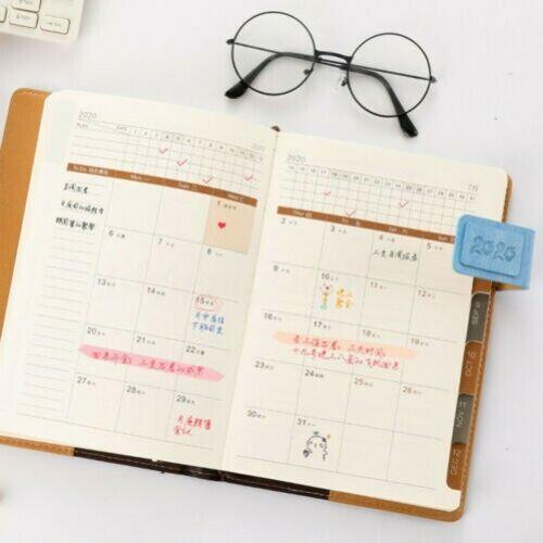 2020 Monat Basic Planer Tagebuch Zeitschrift Hard Abdeckung Notebook