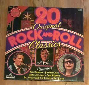 Various-20-Original-Rock-amp-Roll-Classics-Vinyl-LP-Comp-33rpm-1974-PLE-7004