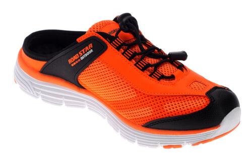 Herren Damen Pantoletten Clogs Sabot Sneaker Sandale Slipper Schuhe Orange 19498
