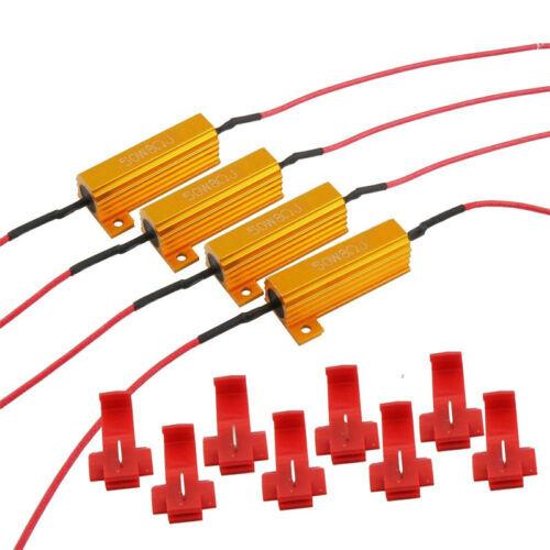 4x 12V LED LOAD RESISTORS 50W 8 OHM FOR LED REAR TAIL LIGHTS FLASH INDICATORS
