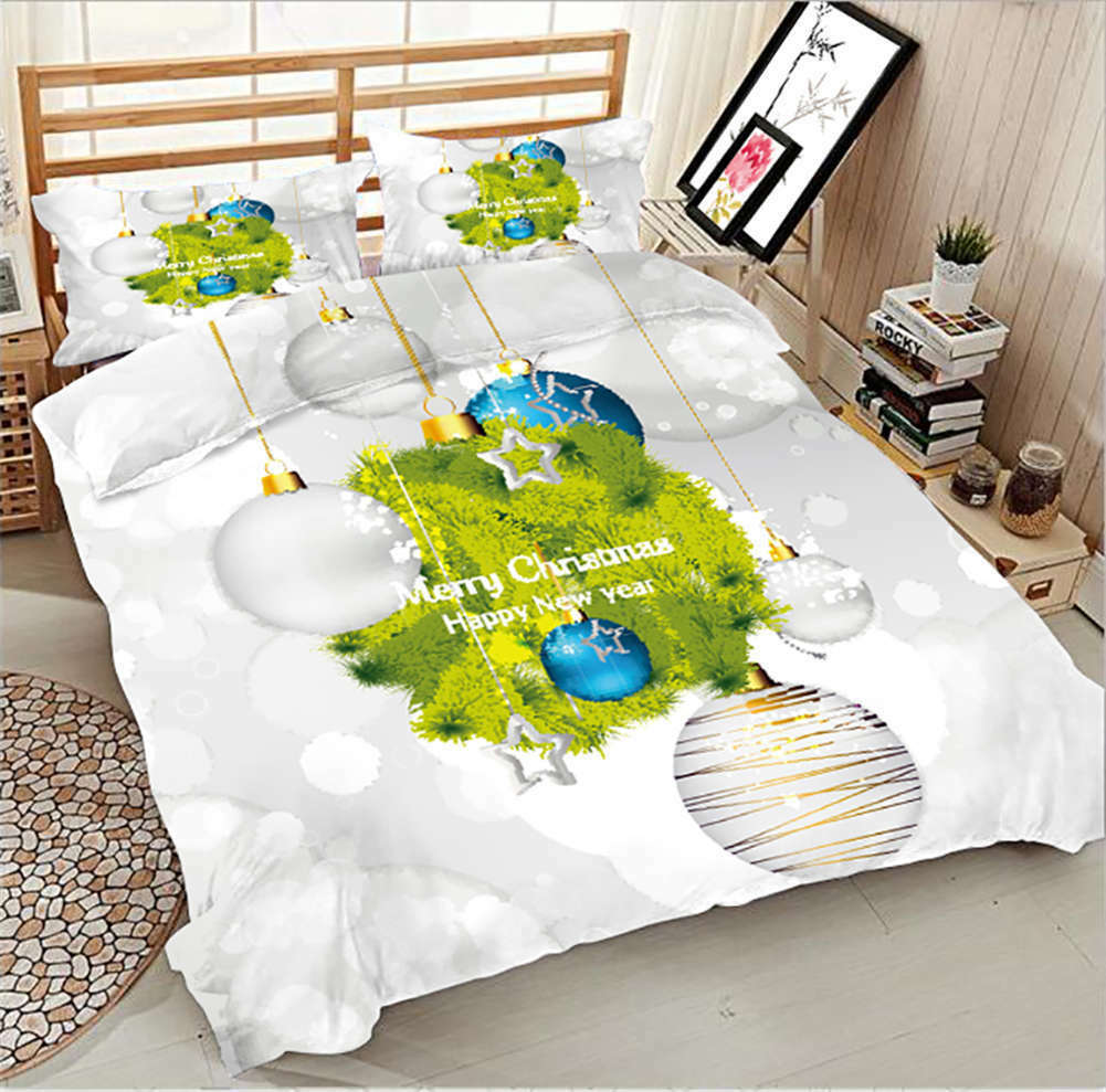 Happy New Year 3D Printing Duvet Quilt Doona Covers Pillow Case Bedding Sets