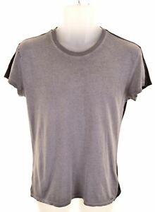 DIESEL-Uomo-T-Shirt-Top-Grigio-Medio-Cotone-JC20