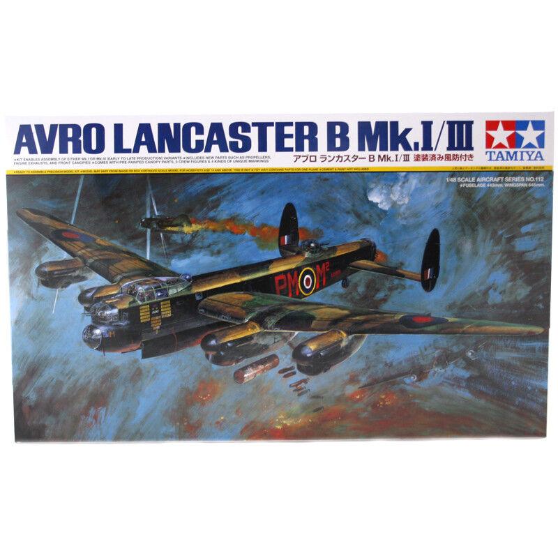 Tamiya Avro Lancaster B Mk.I III Model Set (Scale 1 48) 61112 NEW