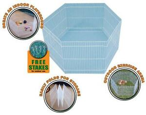CHEW-PROOF-6-PANEL-EXERCISE-PEN-CAGE-FOR-FERRETS-RABBITS-GUINEA-PIGS-amp-SMALL-PET