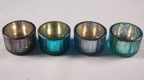 türkis blau Teelichthalter Teelichtglas Dekoration Hochzeit Kommunion Taufe 4St