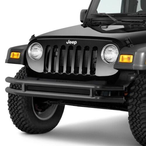 Smittybilt Tubular Jeep Front Bumper Textured Black For 76-06 Wrangler #JB44-FNT