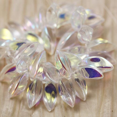 CZECH GLASS BEADS TWISTED DAGGERS **Pick a Color**  20pcs 8x16mm CHUNKY TWISTS