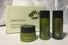 Korean innisfree olive real skin special 3pc samples kit Lotion Power Cream NEW
