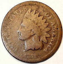 "1873 Indian Head Cent, Bronze, Semi-Key, Closed ""3"" variety L@@K!!!"