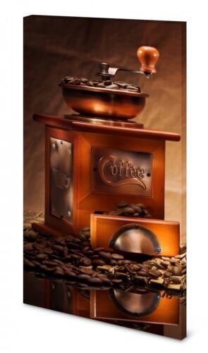 Magnettafel Pinnwand Bild Kaffee Mühle Bohnen XXL gekantet