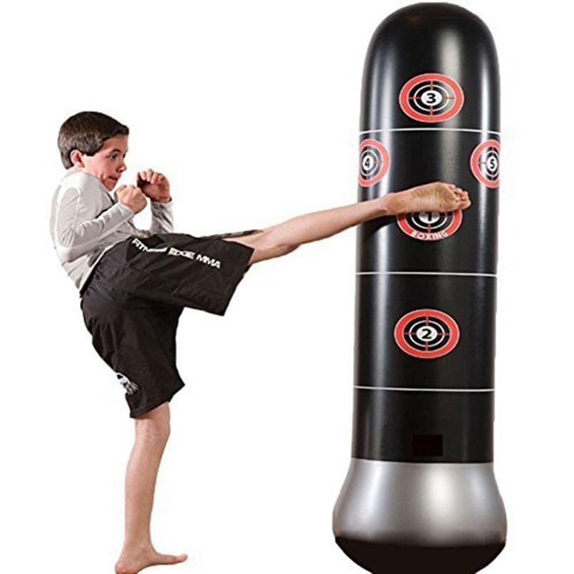 with Air Pump Taekwondo Inflatable Punching Bag for Kids Decompression Kick Training for Practicing Karate 63Inch Punching Bag Freestanding Boxing Bag Fitness Punching Bag Column Tumbler Sandbag