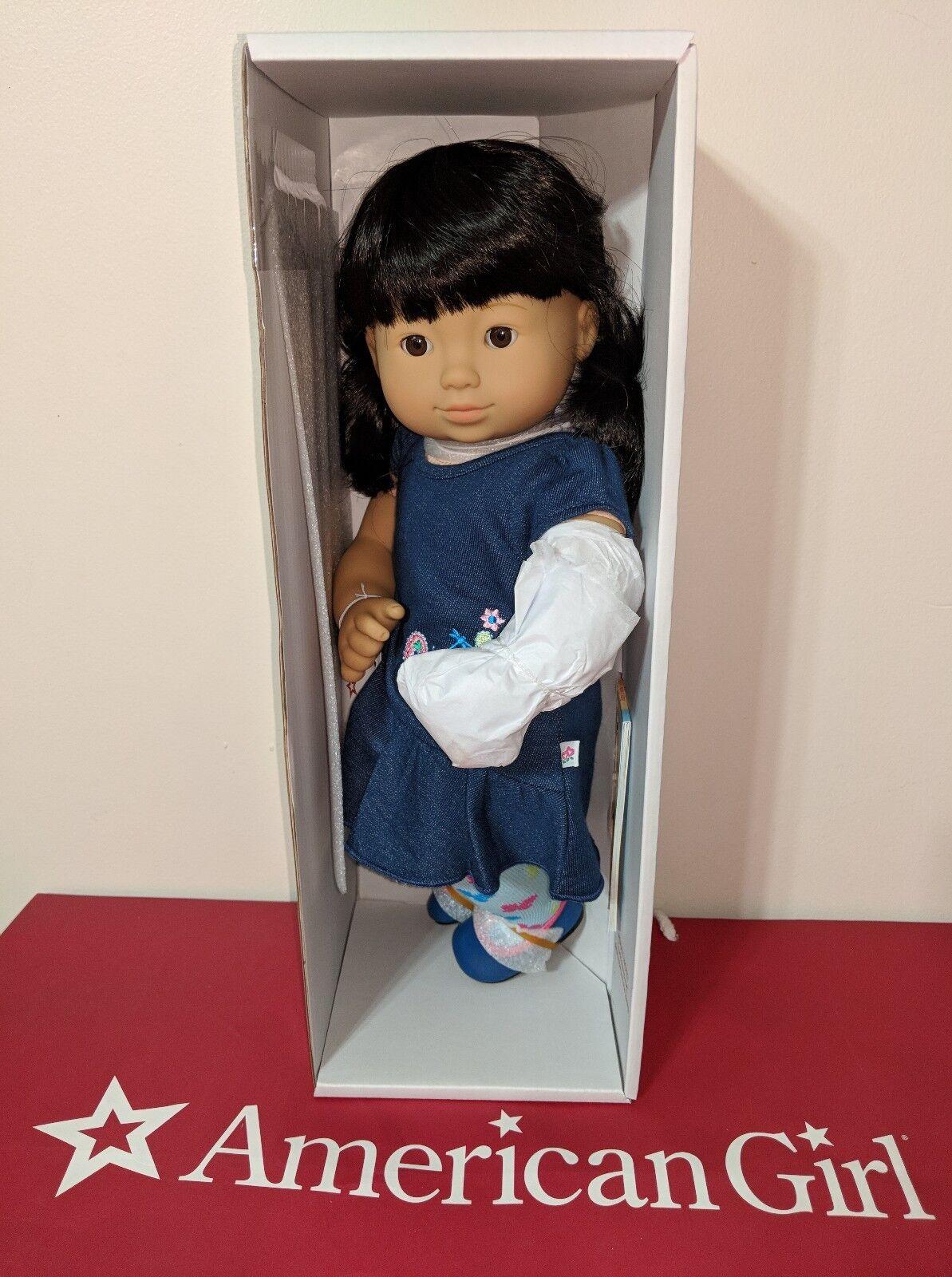 American Girl Bitty Twins 4G schwarz HAIR braun EYES Asian single Doll NEW