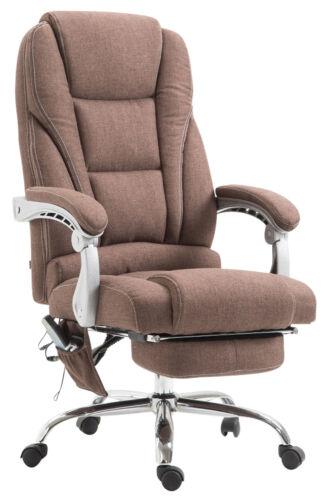 Bürostuhl Pacific Stoff mit Massagefunktion Drehstuhl Schreibtischstuhl braun