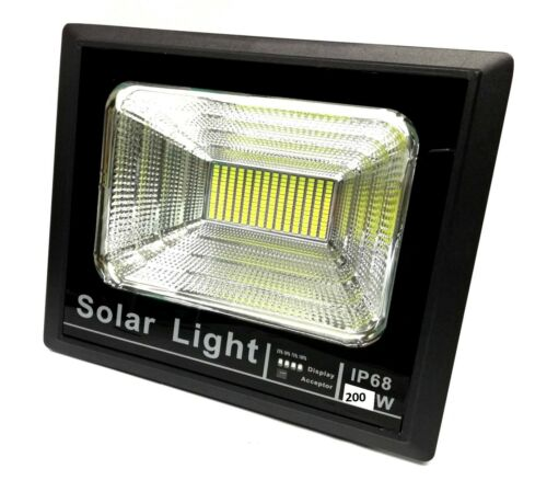 200 Watt Lighthouse Solar LED with Panel Spotlight Remote Control 60-120