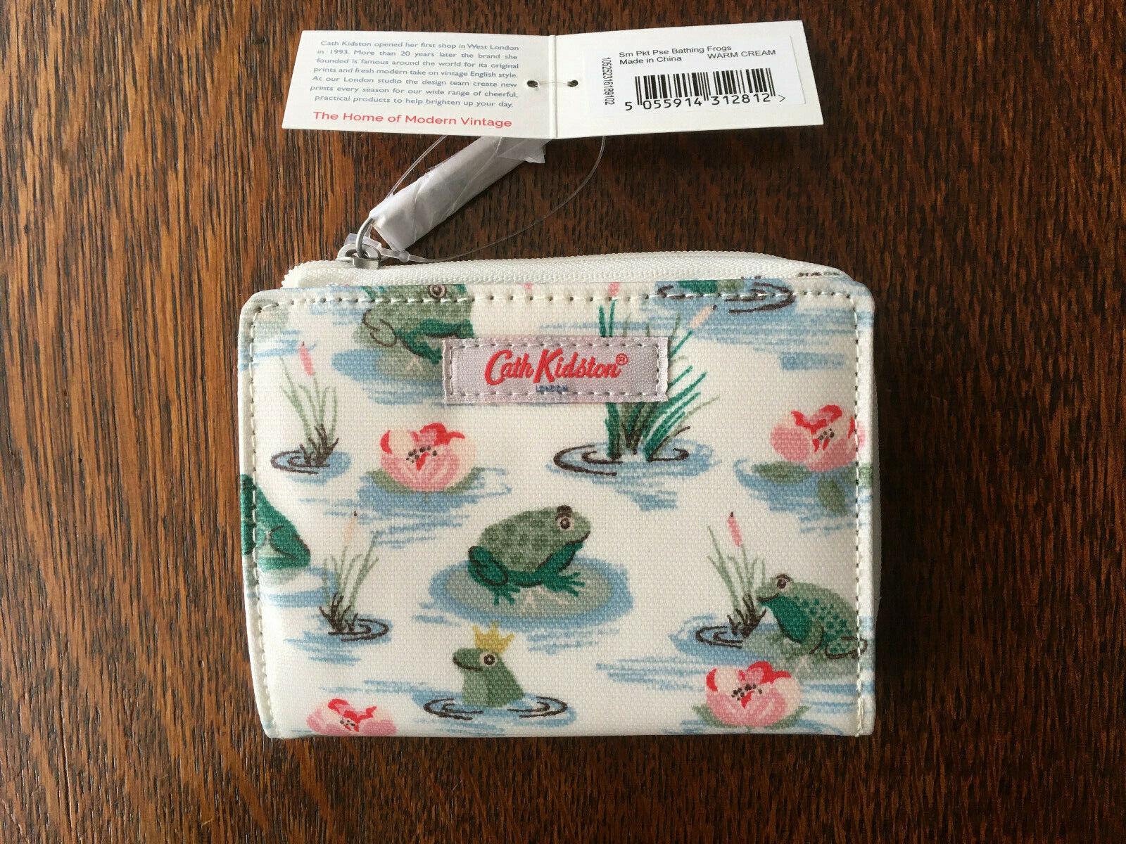 Cath Kidston Bathing Frogs Slim Pocket Purse / Travel Wallet - BNWT