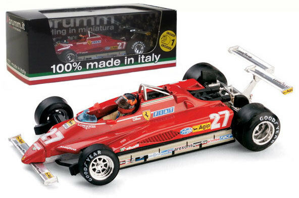BRUMM r272-ch FERRARI 126C2 Turbo LONG BEACH 1982-Gilles Villeneuve, échelle 1 43,