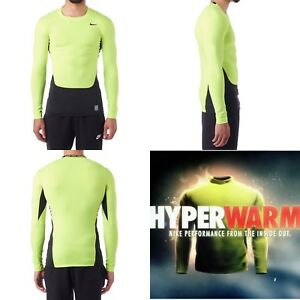 742153a3 Nike Pro Combat Hyperwarm Lite Compression Crew Mens LSleeve 588890 ...