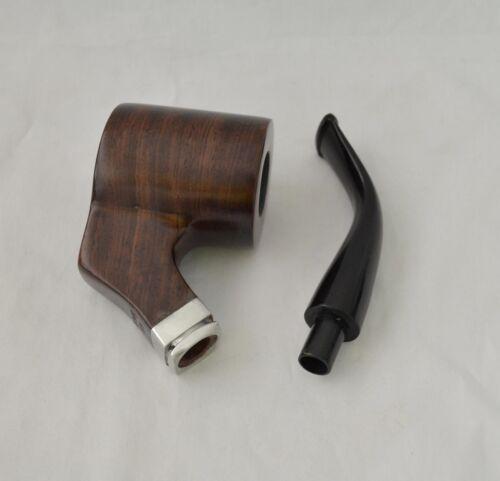 Dark Brown Ebony Wood  Aluminum ring 9mm filter Tobacco Smoking Pipe Nice Gift