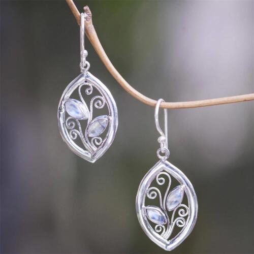 Chic Women/'s Vintage Turquoise Multi-Gemstone Moonstone Dangle Hook Earrings