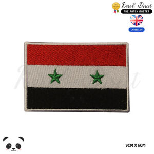 SYRIA-National-Flag-Embroidered-Iron-On-Sew-On-Patch-Badge-For-Clothes-etc