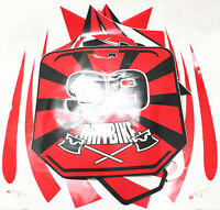 Dirt Bike Body Red Decal Set Free Shipping